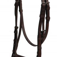 Horse size brown leather english bridle with reins 3700