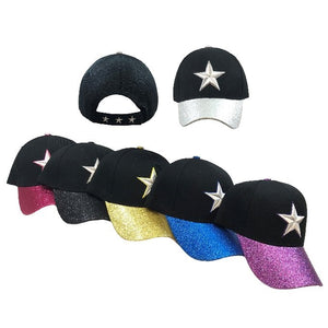 HT3115 **STAR** BALL CAP WITH GLITTER BILL