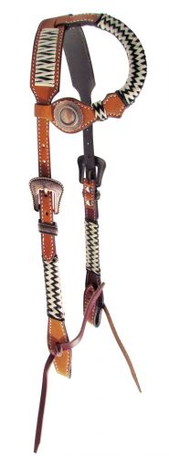 14069 Showman Argentina cow leather single ear headstall