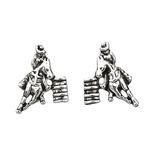 Barrel Racer Earrings with Cowboy Hat Box
