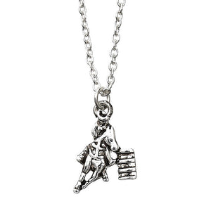 JN140 Barrel Racer Necklace with Cowboy Hat Box