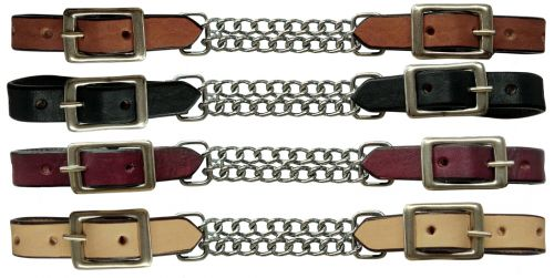 1326 Showman leather curb with double chain