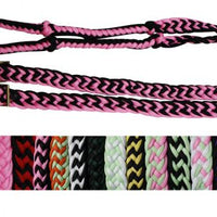 27109 braided nylon barrel reins with easy grip knots