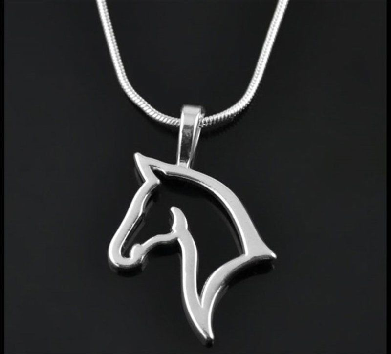 Beautiful Simple Silver Horse Necklace