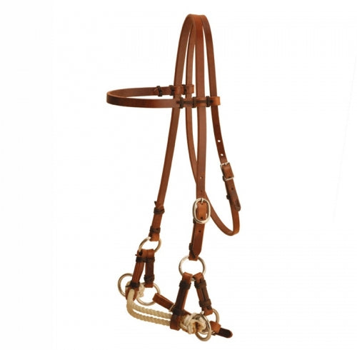 Tory Harness Leather Single Nose Side Pull single rope nose side pull