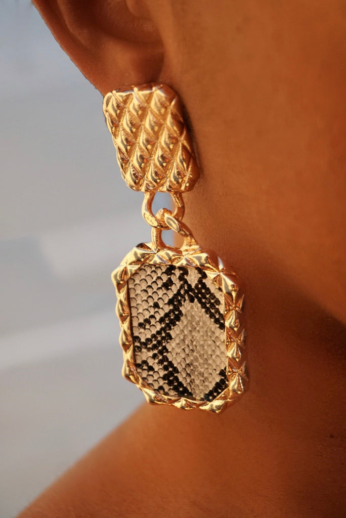 Gold Venom Earrings