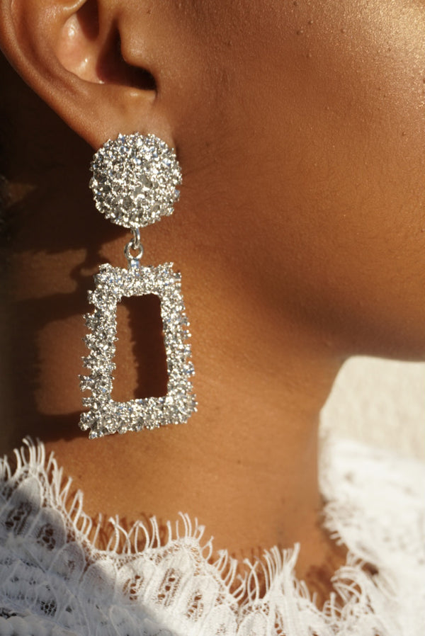 Dripped in Silver Earrings