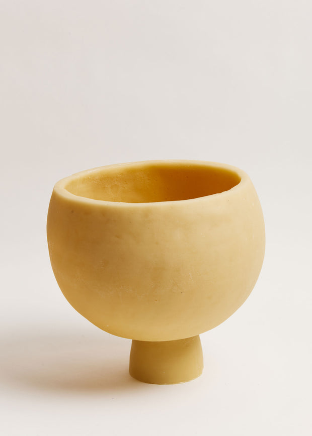 Large Keystone Beeswax Bowl Candle