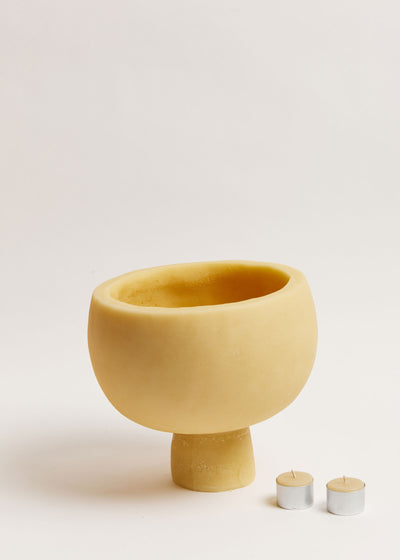 Medium Keystone Beeswax Bowl Candle