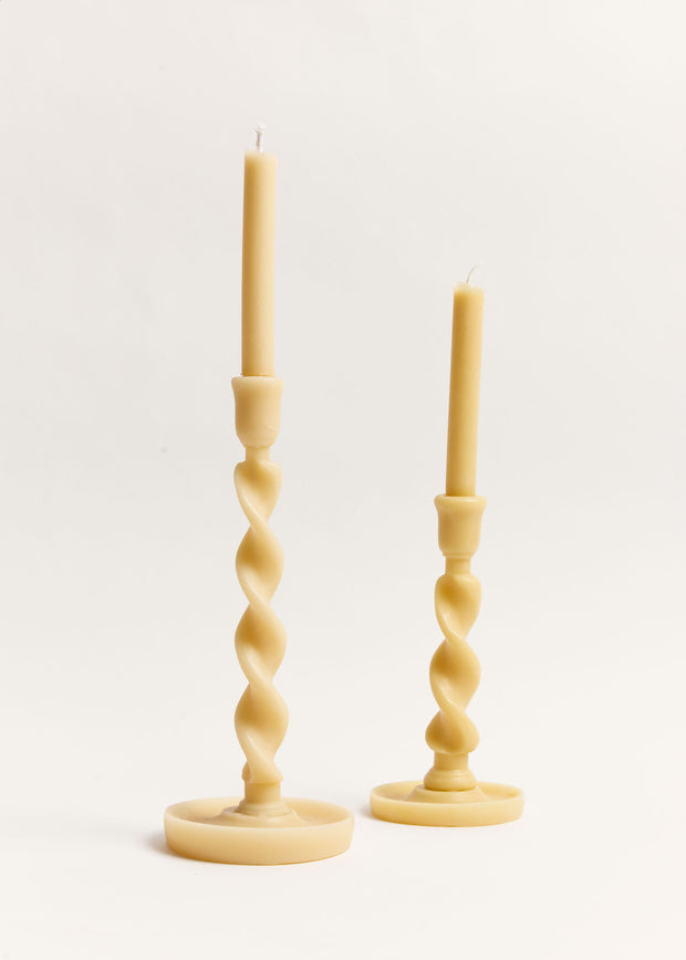 Large Twistie Beeswax Candle