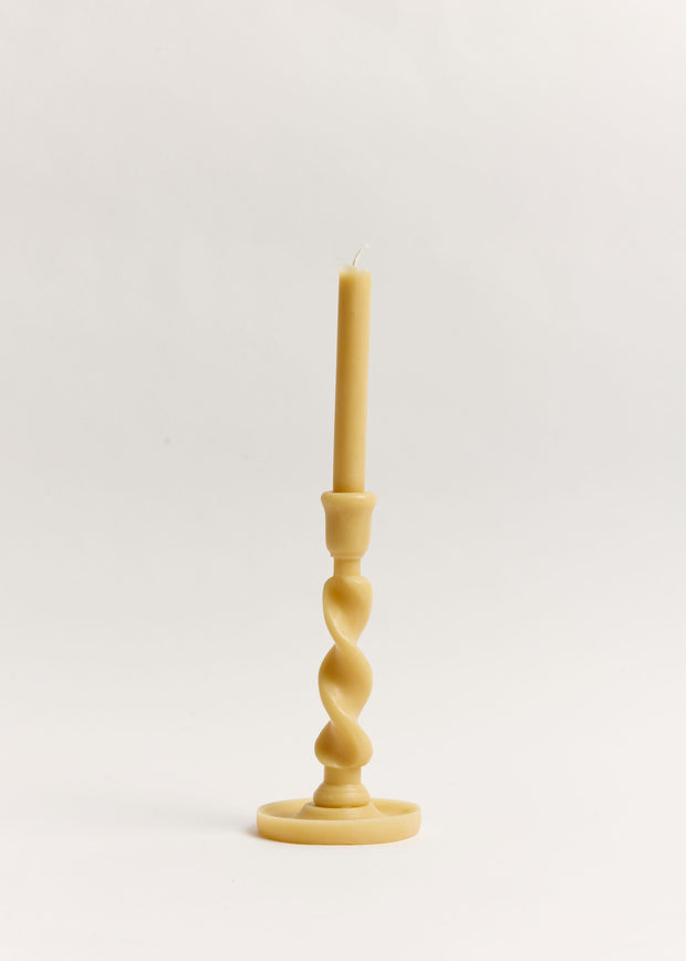 Medium Twistie Beeswax Candle