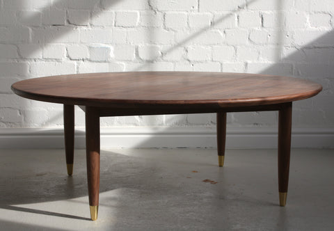 bespoke blackheath greenwich south east london furniture walnut coffee table dining circular handmade