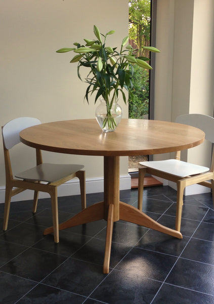 bespoke blackheath greenwich south east london furniture oak table dining circular handmade