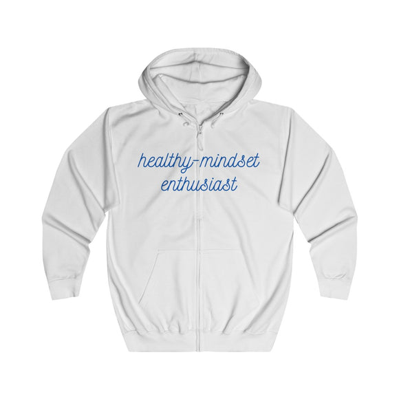 Full-Zip Hoodie (Unisex) - Mental Health Ribbon