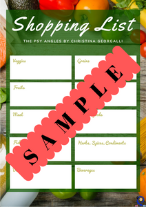 Shopping List (printable)