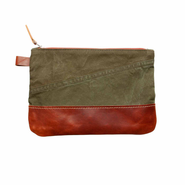 vintage military electronic canvas pouch