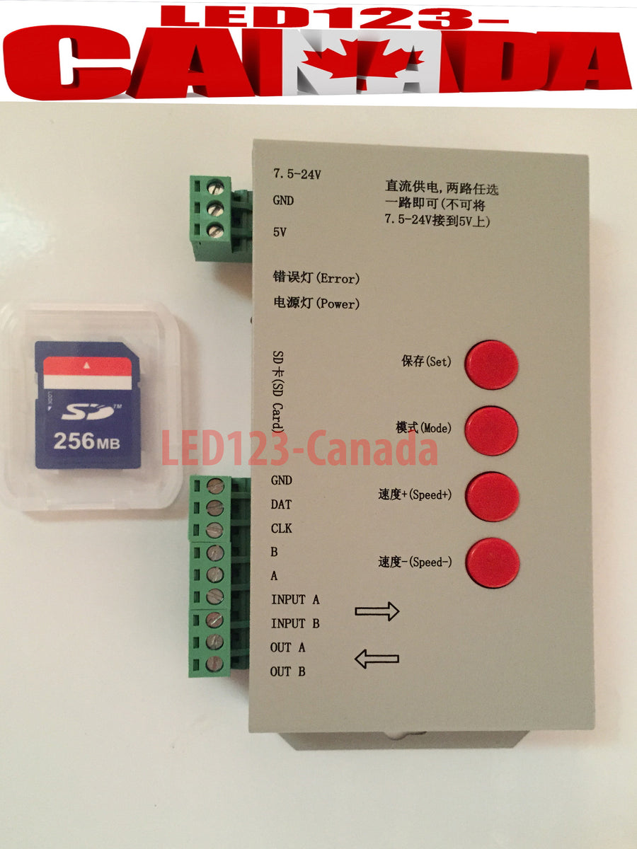 detailed look 84955 0be25 T1000S LED Controller+SD CARD-RGB LEDs WS2801,WS2811,WS2812,WS2812B  LPD8806,DMX