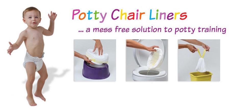 Tidy Tots Potty Chair Liners a mess free solution to potty training.