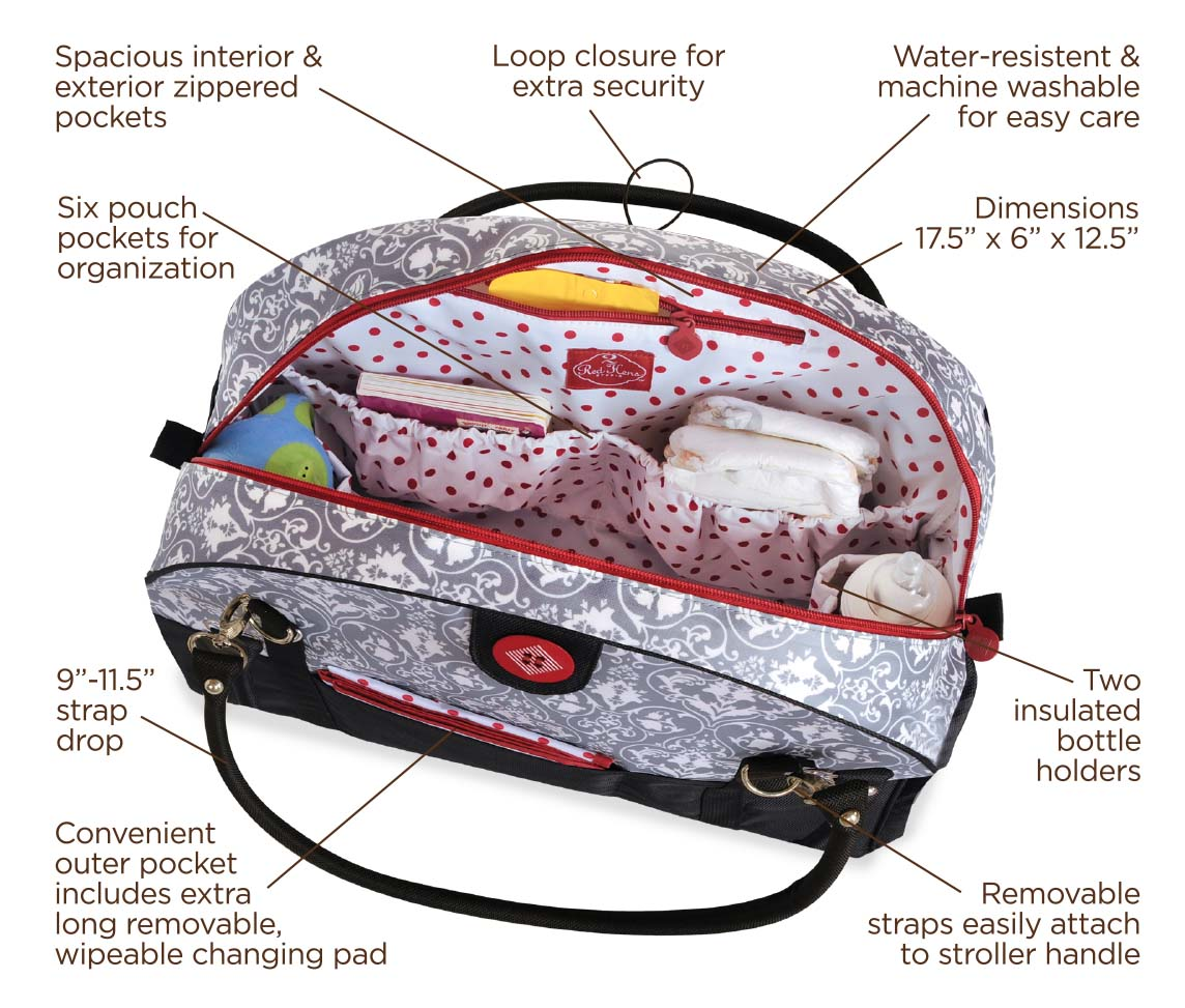 Coop Carry-All Diaper Bag Diagram