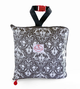 Grey Damask Shopping Cart Cover
