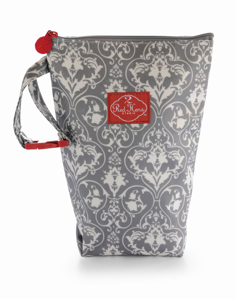 Grey Damask Diaper Pack