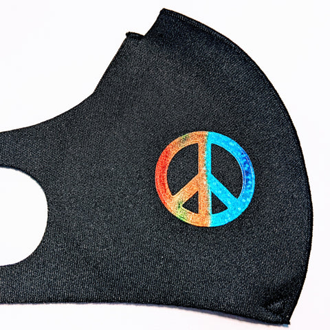 Cloth Face Mask, Copper Ion Fabric Filter - Peace, Love, Kindness & Schools