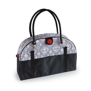 Gray Damask Coop Carry-All Diaper Bag