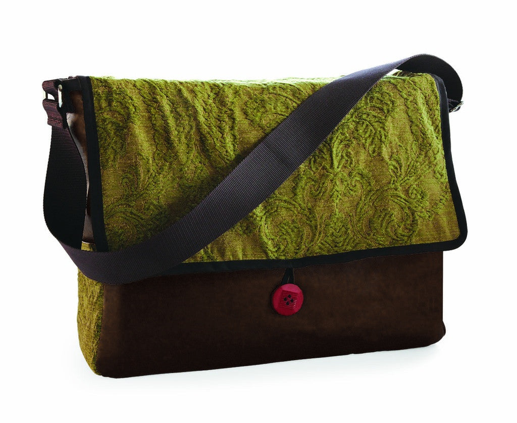 Green Chenille Limited Edition Messenger Bag