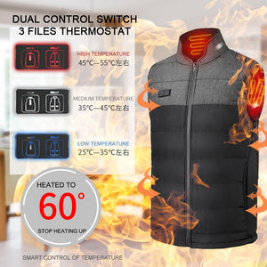 Men winter outdoor Heated Vest