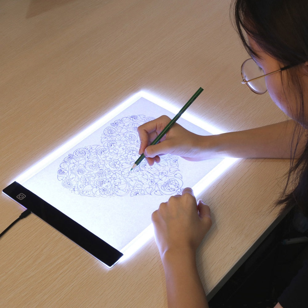 LED Artist Stencil Drawing Board and Tracing Table
