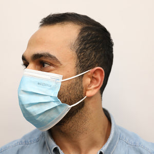 MedSense Disposable Medical Face Masks with Ear Loops (EN14683 Type I)