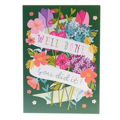 'Well done you did it!' card