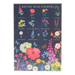British wild flowers card