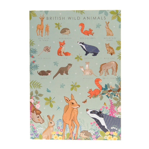 British wild animals card