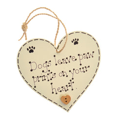 Doggy heart sign – dogs leave paw prints on your heart