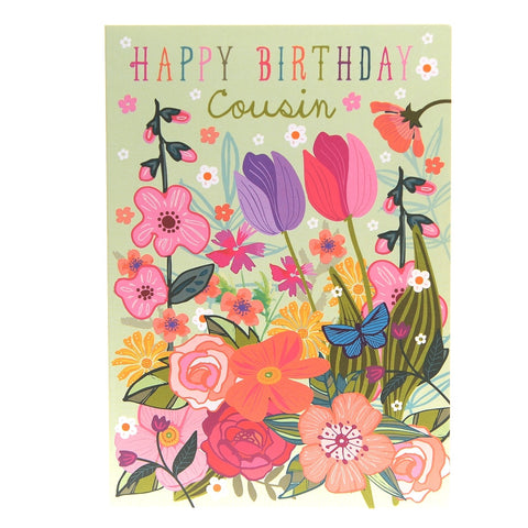 Happy Birthday Cousin card