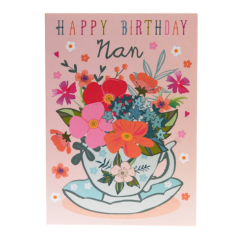 Happy Birthday Nan card