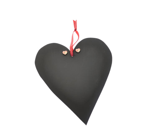 Wooden heart blackboard