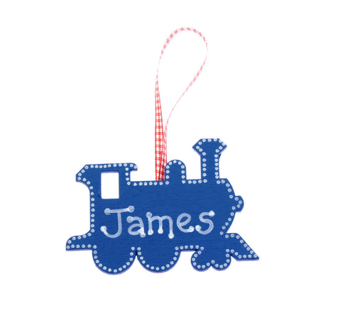 Train door hanger – blue
