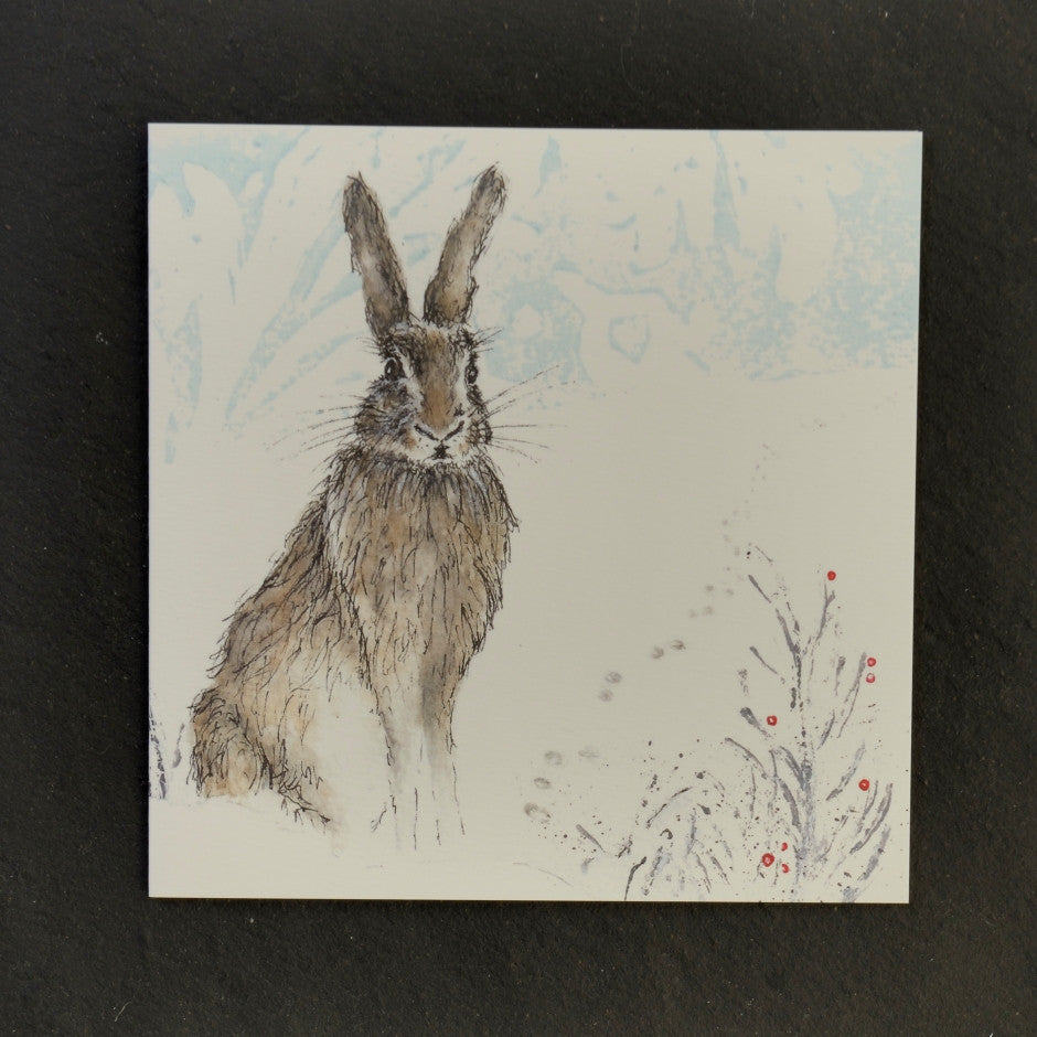 Christmas Henry Hare greeting card
