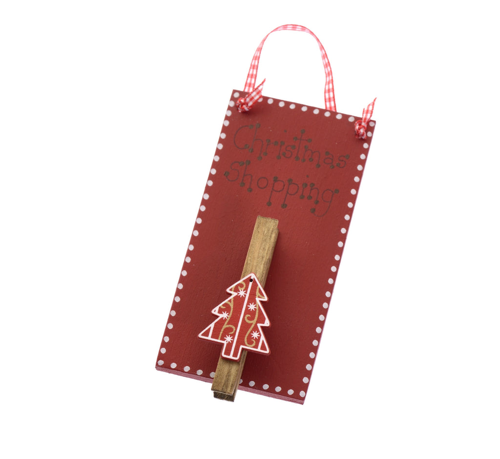 Christmas shopping list hangers