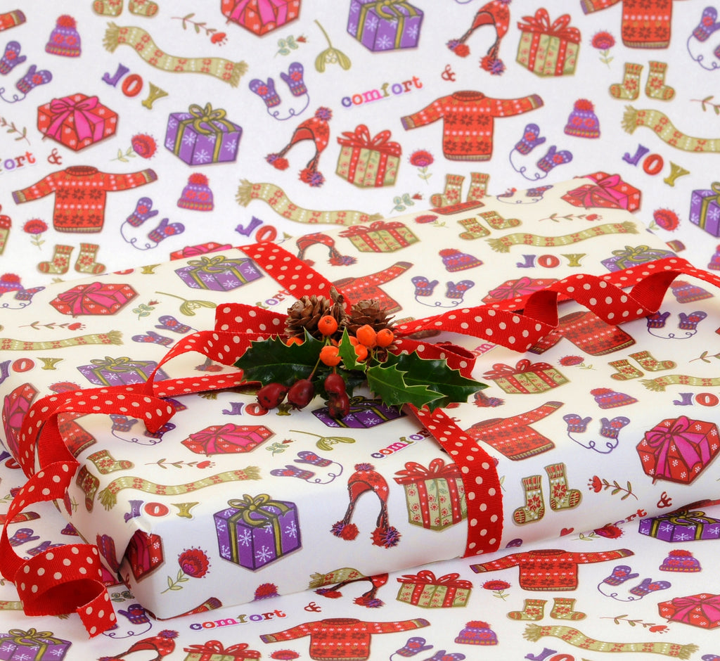 Comfort and Joy Christmas gift wrap