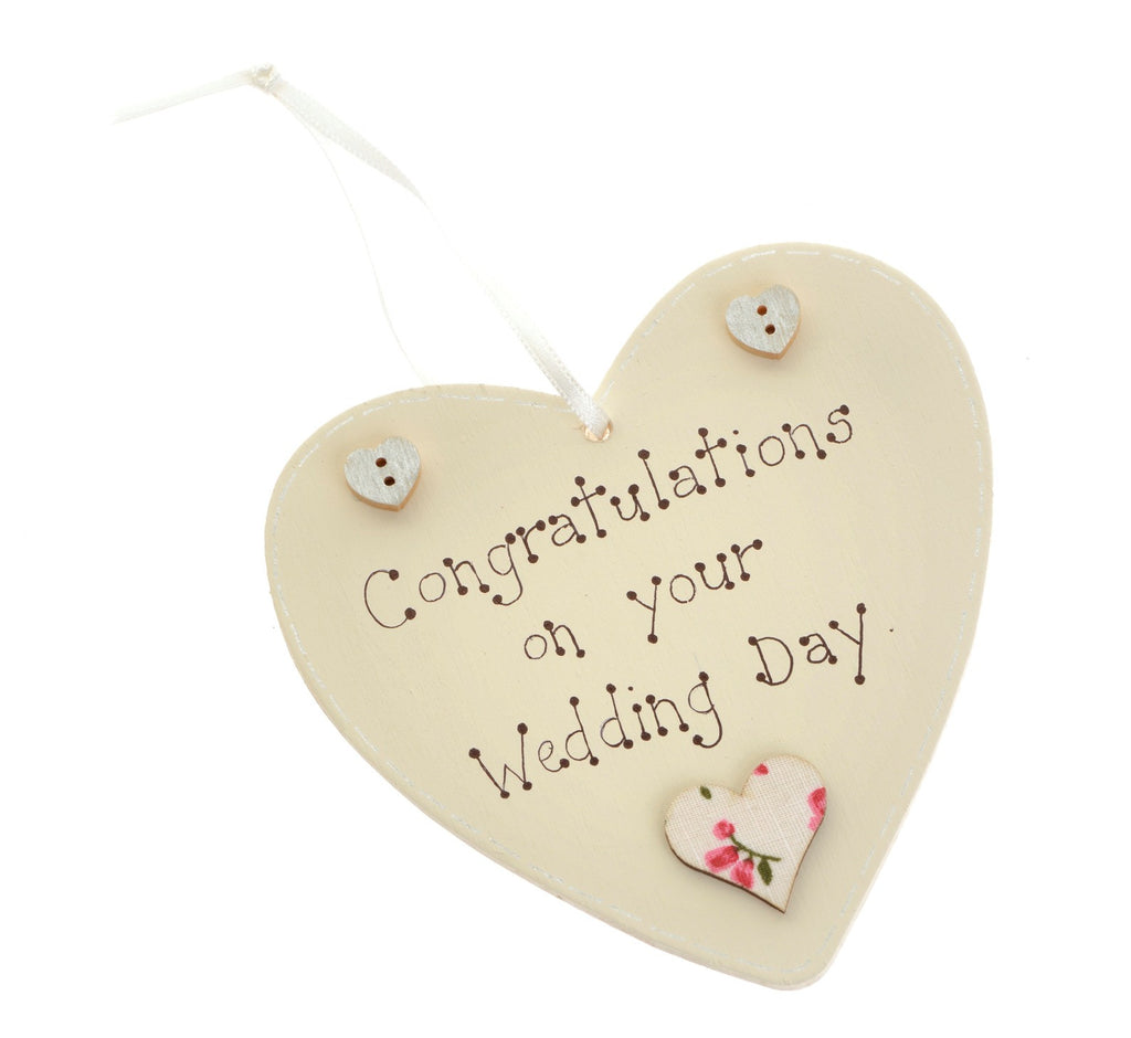 congratulations on your wedding day heart