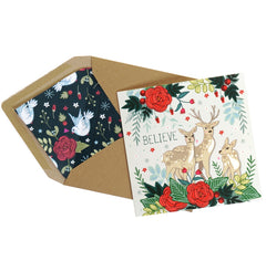 Christmas cards pack of 4 – Joy, Love, Peace & Believe