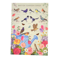 British Garden Birds Poster - Illustration Print