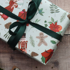 Christmas Nutcracker gift wrap