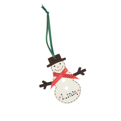Snowman decoration – personalised