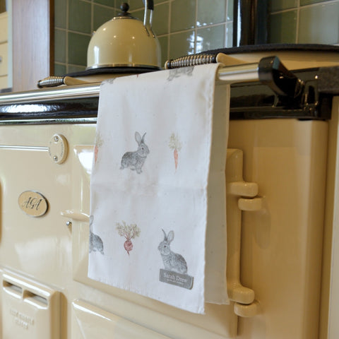 Daisy Rabbit Tea Towel
