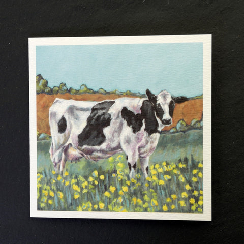 Delilah the cow greeting card