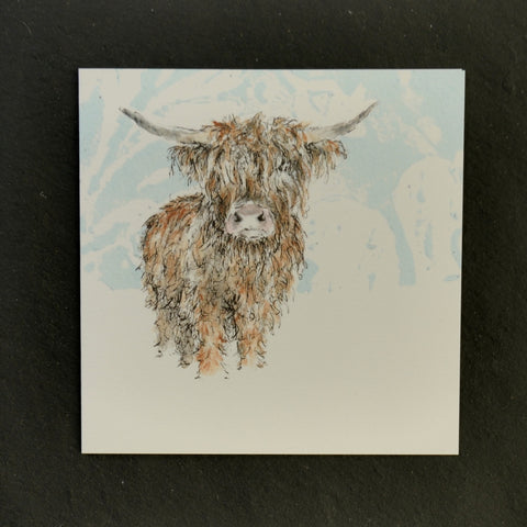 Dougal the bull greeting card